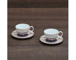 Set 2 tazze Caffè con piattino TRINACRIA D17337