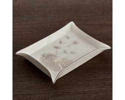 Svuota tasche Soffione 20 x 16 cm platino HAUTE COUTURE D17408