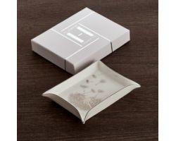 Svuota tasche Soffione 15 x 12 cm platino HAUTE COUTURE D17406