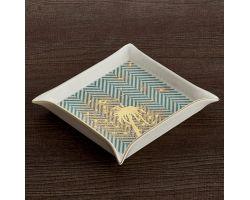 Svuota tasche acqua marina Soffione oro 18 x 18 cm HAUTE COUTURE D17417