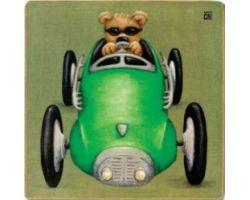 Quadro Auto con Orsetto 29 x 29 cm KJ5B