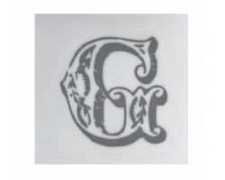 Piastrella Sottobicchiere Letter G A084111AG