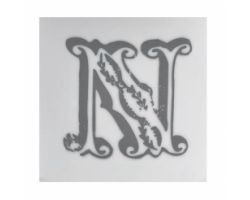 Piastrella Sottobicchiere Letter N A084111AN