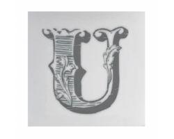 Piastrella Sottobicchiere Letter U A084111AU