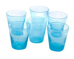 Bicchiere Tumbler 30 cl Azzurro in vetro SURF 26016