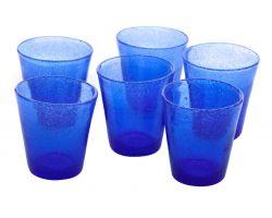 Bicchiere Tumbler 30 cl Blu in vetro SURF 26018