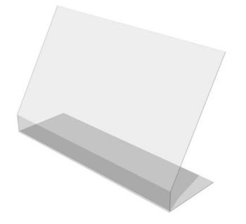 BARRIERA PROTETTIVA IN PLEXIGLAS 100 x 30 x H 60 cm SCR0100