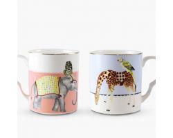 Set 2 Mug GIRAFFA E ELEFANTE A22002033 Yvonne Ellen