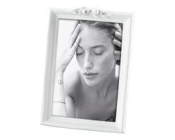 Cornice Portafoto in Resina Roselline 15x20 cm Bianca A1049