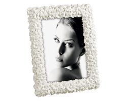 Cornice Portafoto in Resina con Margherite 13x18 cm Panna e Oro A1285