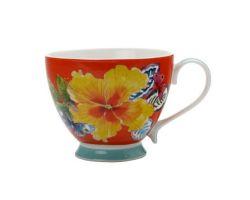Tazza Mug 400 ml Hibiscus EXOTICA Rossa DI0109