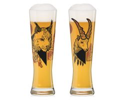 SET DUE BICCHIERI BIRRA WEIZEN BLACK LABEL FATEMI CL 67 3430002