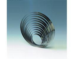 Fascia inox H 2.5 Ø 16 cm CERCHIO 1H25X16