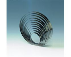 Fascia inox H 2.5 Ø 18 cm CERCHIO 1H25X18