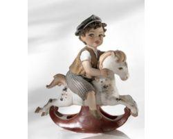 Cavallino a Dondolo M Statua Porcellana Vicentina DONDOLOM