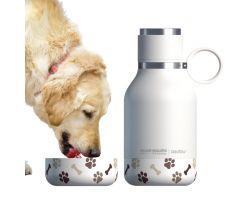 Bottiglia Termica e Ciotola per cani DOG BOWL BOTTLE Bianca AISDB1-BCO