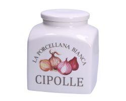 Barattolo porcellana deco CIPOLLE 3.5 L CONSERVA  P0126350CD
