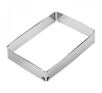 Fascia Rettangolare REGOLABILE 19/34x28/54 CM in acciaio inox 47528-05