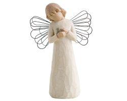 STATUA ANGELO WILLOW TREE ANGEL OF HEALING  26020