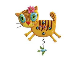 OROLOGIO GATTO KITTY CON PENDOLO P1076
