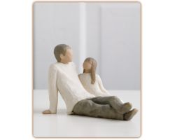 STATUA WILLOW TREE FATHER AND DAUGHTER   26031