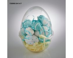 Uovo in PVC con 18 Uova da Appendere Tiffany 728960.84
