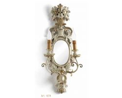Applique 2 luci Mecca Antico e Bianco Art. 1679