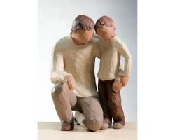 STATUA WILLOW TREE FATHER AND SON 26030