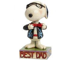 SNOOPY BEST DAD PEANUTS JIM SHORE  403615