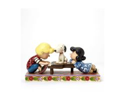 LUCY E SNOOPY HAPPINESS IS A FAVOURITE SONG JIM SHORE PEANUTS 4042385