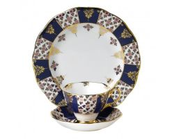 Tazza con piattino e piatto dolce Regency Blue 1900 40017566