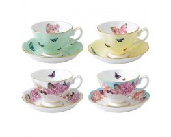 TAZZA THE CON PIATTINO SET 4 PEZZI ASSORTITI MIRANDA KERR  40002650 Royal Albert