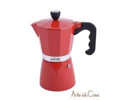 Caffettiera Rossa sei Tazze   Linea ES000006