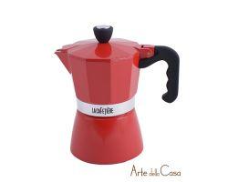 Caffettiera Rossa tre Tazze   Linea ES000005