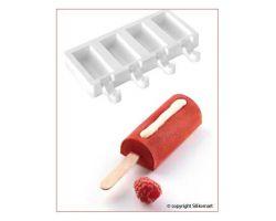 Stampo in Silicone Gelato Mini Chic con bastoncini in faggio Alimentari GEL05M