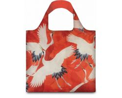 Borsa WOMAN\'S HAORI WITH WHITE AND RED CRANES WH.CR