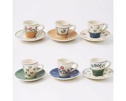SET 6 TAZZINE CAFFE\' CON PIATTINO 6057-ES