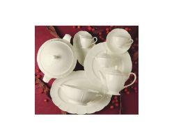 Narumi Servito 18 Pezzi Bone China  Linea Lotus Bianco