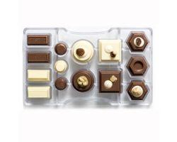 Stampi Policarbonato cioccolatini Geometrico 0050085