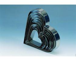 Fascia inox H 4 x 18 cm CUORE 7H4X18