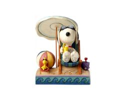 SNOOPY E WOODSTOCK IN SPIAGGIA JIM SHORE PEANUTS 4049415