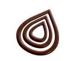 Stampo Policarbonato Cioccolato per decorazioni Goccia 20-D023