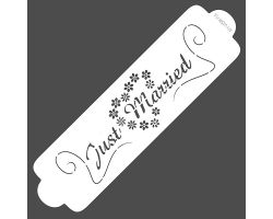 Stencil Just Married Speciale per Aerografia  40-WSR014