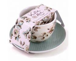 Tazza da colazione con piattino Cottage Flower BRS2466 C04-12