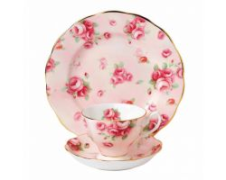 Tazza con piattino e piatto dolce Rose Blush 1980  40017535 Royal Albert