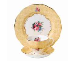 Tazza con piattino e piatto dolce Bouquet 1990 40017539 Royal Albert