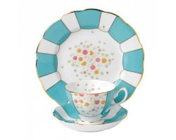 Tazza con piattino e piatto dolce Mint Deco 1930  40017531 Royal Albert