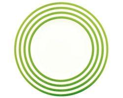 PIATTO DESSERT FRESHNESS LINES VERDE OLIVA A0435158