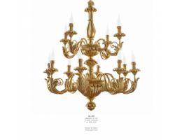 Lampadario 12 luci Oro Antico Art. 529