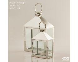 Lanterna Rettangolare in metallo H 30 cm 602097.02